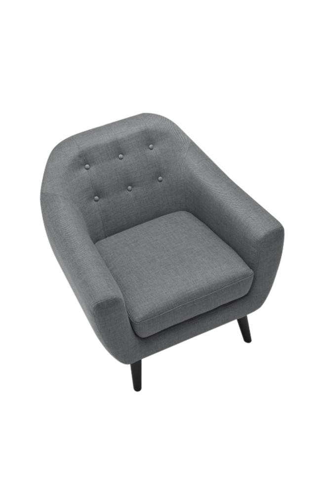 fauteuil ritchie gris. Black Bedroom Furniture Sets. Home Design Ideas